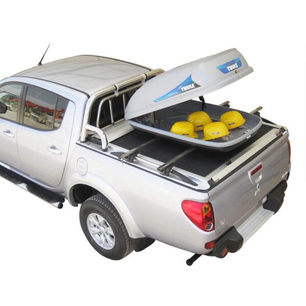 Rulou benă Double Cab argintiu Mitsubishi L200 - '06 - '15 - 6