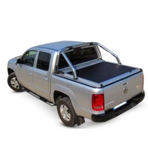Rulou benă Double Cab argintiu Volkswagen Amarok - '17 - Prezent cu rollbar OEM 1 - 1