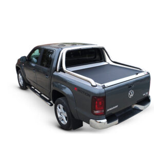 Rulou benă Double Cab argintiu Volkswagen Amarok - '17 - Prezent cu rollbar OEM 2