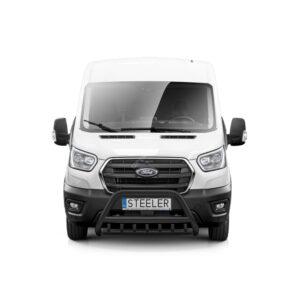 Bullbar Omologat - Model 1 Negru Ford Transit '14 - Prezent
