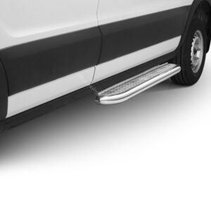 Praguri cu treaptă lată din Inox - Ford Transit '19 - Prezent