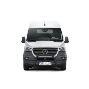 Bullbar Omologat - Model 4 Negru Mercedes-Benz Sprinter '18 - Prezent
