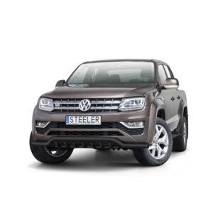 Bullbar Omologat - Low 1 Negru Volkswagen Amarok '17 - Prezent