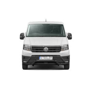 Bullbar Omologat - Low 1 Negru Volkswagen Crafter '17 - Prezent
