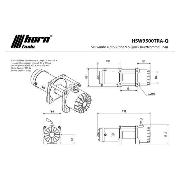 Troliu HornTools Alpha 9.5.1 12V - 4.3 Tone - 6