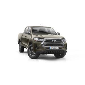 Bullbar Omologat - Low 2 Negru Toyota Hilux '21 - Prezent