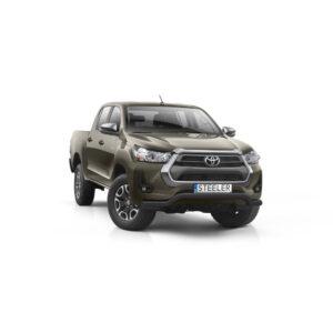 Bullbar Omologat - Low 3 Negru Toyota Hilux '21 - Prezent