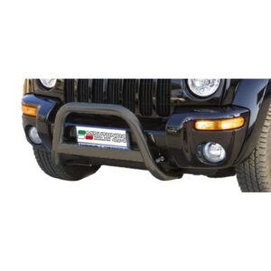 Bullbar Omologat - Model 5 Negru Jeep Cheeroke '00 - '07