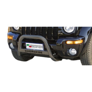 Bullbar Omologat - Model 5 Negru cu Inscripție Jeep Cheeroke '00 - '07