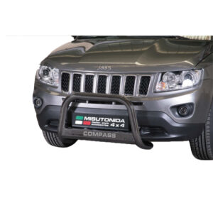 Bullbar Omologat - Model 5 Negru cu Inscriptie Jeep Compass '11 - '16