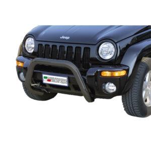 Bullbar Omologat - Model 6 Negru Jeep Cheeroke '00 - '07